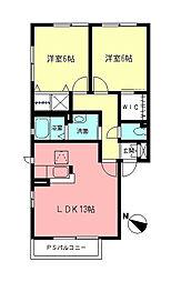 シエル7[1階]の間取り