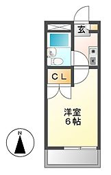 レオパレスRX新守山第2[3階]の間取り