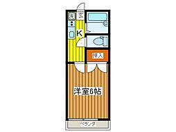 コーポかしまII号[1階]の間取り