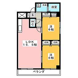 マーベルエトワール[1階]の間取り