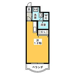 アカデミーコートプラトン[4階]の間取り