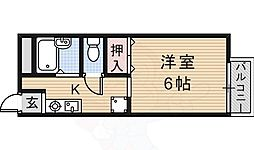 JR東海道・山陽本線 JR総持寺駅 徒歩35分の賃貸アパート 1階1Kの間取り