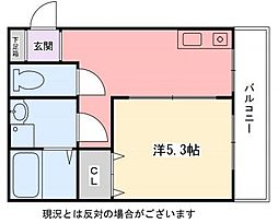 インタービレッジ青山二番館[1階]の間取り
