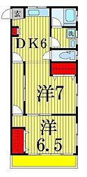 第二TKビル[201号室]の間取り