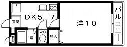 暁21うえきII号館[210号室号室]の間取り