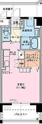 (仮称)江平中町マンション 8階ワンルームの間取り