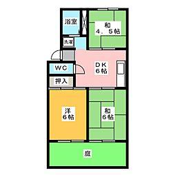 ドミール野田 B棟[1階]の間取り
