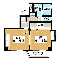 サンセイハイツ押切[4階]の間取り