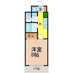 愛知県名古屋市昭和区明月町3丁目の賃貸マンションの間取り