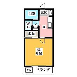 カーサひじり峯田[1階]の間取り