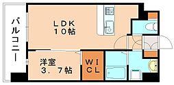グランドクリーンヒット松田[3階]の間取り