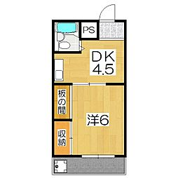 ルナ・クレセント1st(旧笹田ハイツ[203号室]の間取り