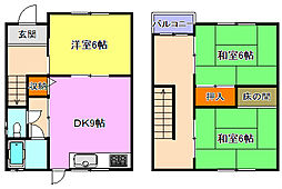 [一戸建] 兵庫県明石市別所町 の賃貸【/】の間取り
