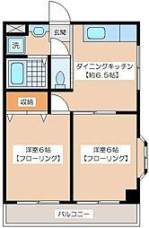 梅原マンション[3階]の間取り