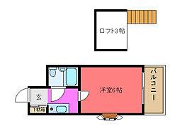 メゾン寺田[301号室]の間取り