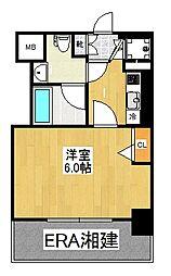 グリフィン横浜・桜木町十番館[504号室]の間取り