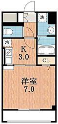 ジュネスO.C.U-II[3階]の間取り
