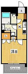 パノラマ南鴨宮[302号室号室]の間取り