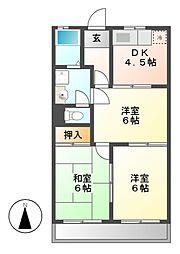 ファインマンションI[1階]の間取り