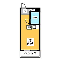 ハイツササハラ[2階]の間取り