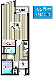 シャスール大正[4階]の間取り