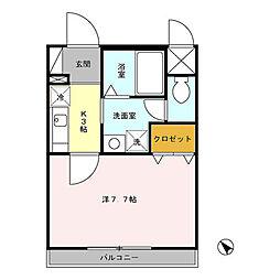 東京都三鷹市新川4丁目の賃貸マンションの間取り