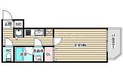 セイワパレス福島駅前 3階1Kの間取り