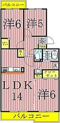 ルミエール・シーズ弐番館[1階]の間取り