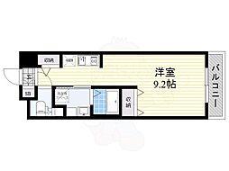 阪急京都本線 南茨木駅 徒歩3分の賃貸マンション 1階ワンルームの間取り