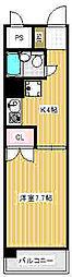 第23クリスタルマンション[206号室]の間取り