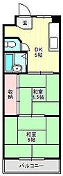 大阪府門真市幸福町の賃貸マンションの間取り