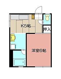 CASA KAORI B棟[102号室]の間取り