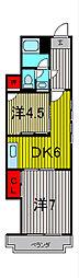 芝銀座ハイツ[2階]の間取り