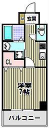 エルベコート堺東[5階]の間取り