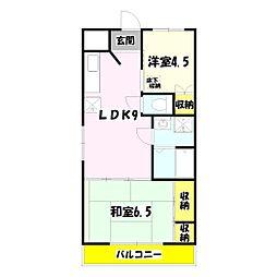 コーポオークラ[2階]の間取り