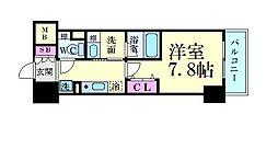 パークアクシス新栄 1階1Kの間取り