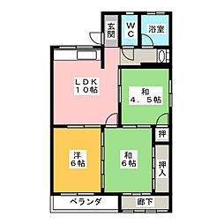 岡田ビル[2階]の間取り