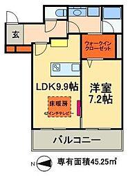 東京メトロ日比谷線 南千住駅 徒歩5分の賃貸マンション 7階1DKの間取り