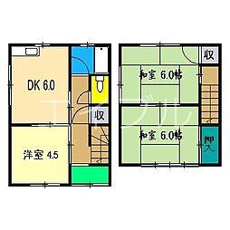 コスモハイツ高須(棟割)[1階]の間取り