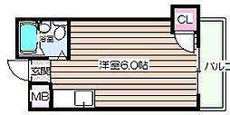 メゾンドール天神橋[4階]の間取り