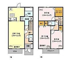 [テラスハウス] 埼玉県さいたま市南区円正寺 の賃貸【/】の間取り