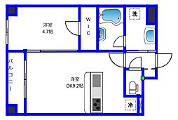 ユーノ新宿柏木[3階]の間取り