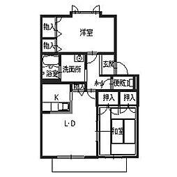 メゾンピスタ[1階]の間取り