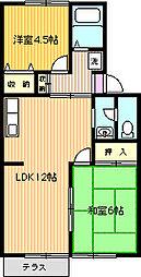 コーポFuji[102号室]の間取り