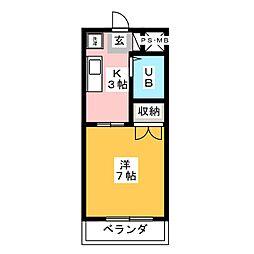 辻村マンション[3階]の間取り