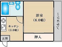 JPアパートメント住吉III[2階]の間取り
