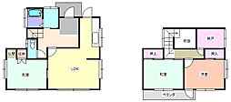 JR高崎線 北本駅 徒歩22分の賃貸一戸建て 3SLDKの間取り