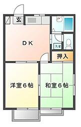 千葉県船橋市新高根5丁目の賃貸アパートの間取り