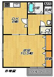 エムハイツ(Mハイツ)[2階]の間取り