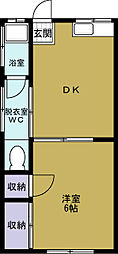 大阪府大阪市此花区伝法6丁目の賃貸マンションの間取り